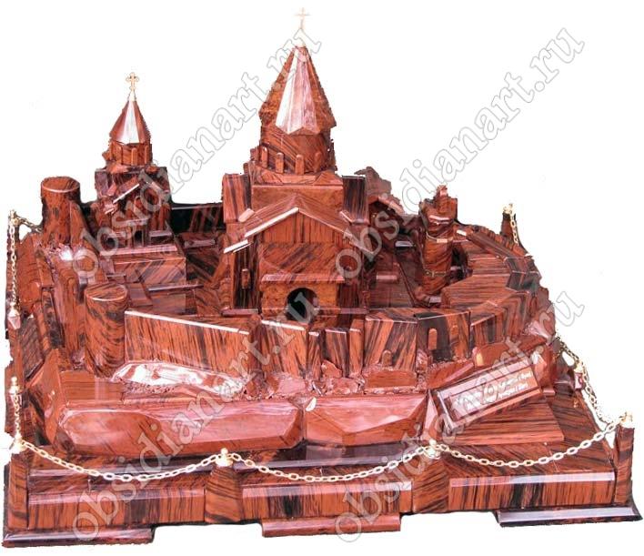 Макет Татевского монастыря из полудрагоценного камня