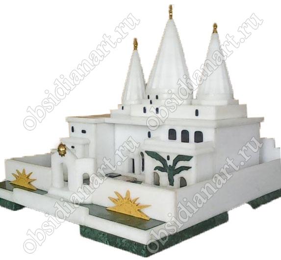 Езидский храм Лалеш, макет из полудрагоценных камней