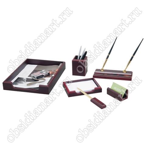 Набор офисных письменных предметов, красное дерево, арт. 1236360