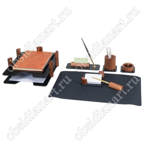 Канцелярский набор на рабочий стол директора, дерево, арт. 1236369