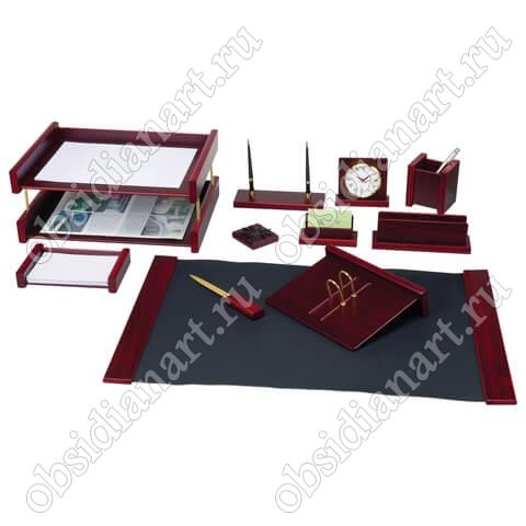 Недорогой набор руководителю в подарок, красное дерево, арт. 1236373