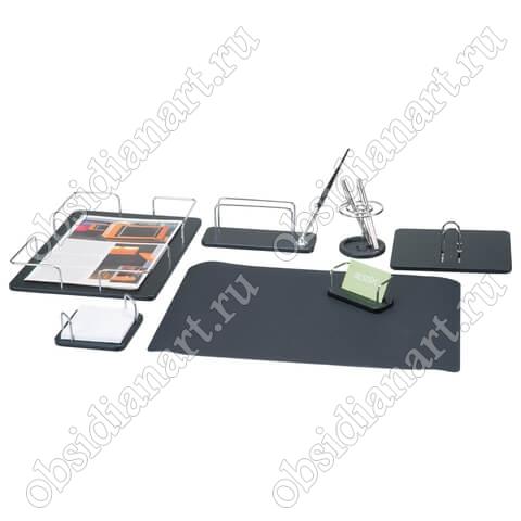 Офисный набор руководителя из черного дерева, 7 предметов, арт. 1236384