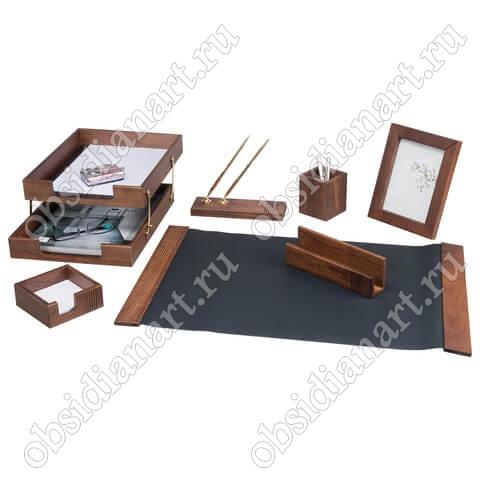 Подарочный настольный набор для руководителя, дерево, арт. 1236387