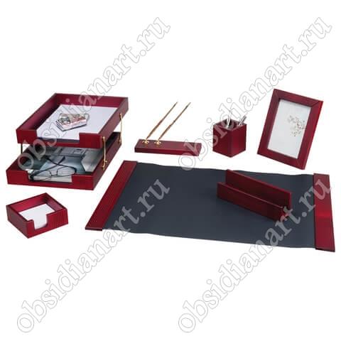 Настольный набор в подарок женщине руководителю, красное дерево, арт. 1236389