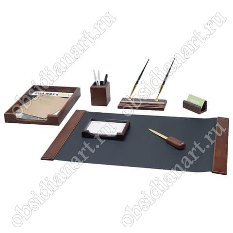 Настольный канцелярский набор для руководителя, орех, арт. 1236363