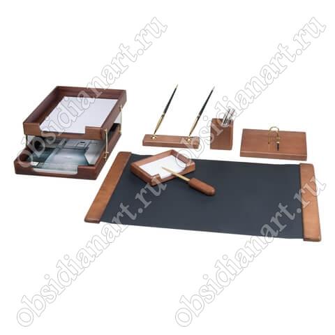 Канцелярский набор на стол руководителя из дерева, арт. 1236392