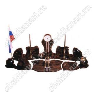 Настольный набор для руководителя «Директорский» из обсидиана
