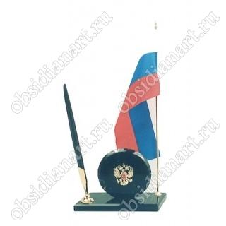 Флаг с гербом и ручкой (КА)