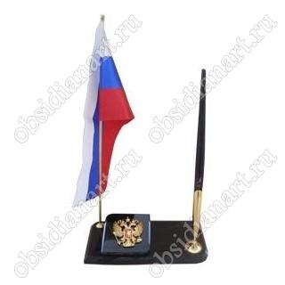 Флаг с гербом и ручкой